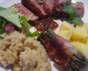 quinoa-magret-canard-figue